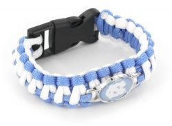 NORTH CAROLINA (LIGHT BLUE/ WHITE) PARACORD BRACELET