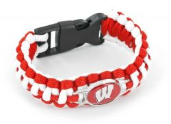 WISCONSIN (RED/WHITE) PARACORD BRACELET