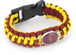 ARIZONA STATE (DARK RED/GOLD) PARACORD BRACELET
