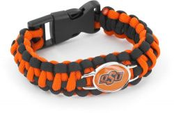 OKLAHOMA STATE (BLACK/ORANGE) PARACORD BRACELET