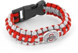 OHIO STATE (SILVER/RED) PARACORD BRACELET