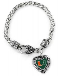 MIAMI COLLEGE HEART BRACELET
