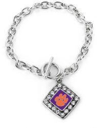 CLEMSON CRYSTAL DIAMOND BRACELET