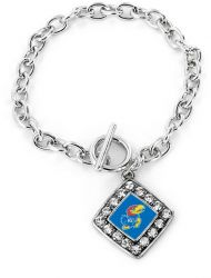 KANSAS UNIVERSITY CRYSTAL DIAMOND BRACELET