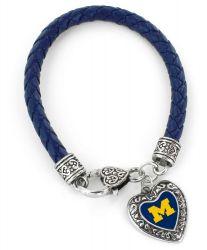 MICHIGAN (NAVY BLUE) COLLEGE BRAIDED BRACELET