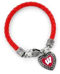 WISCONSIN (RED) COLLEGE BRAIDED BRACELET