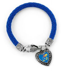 KANSAS (BLUE) UNIVERSITY BRAIDED BRACELET