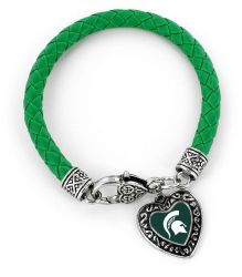MICHIGAN STATE (GREEN) COLLEGE BRAIDED BRACELET