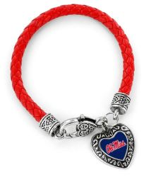 OLE MISS (RED) COLLEGE BRAIDED BRACELET