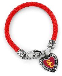 USC (RED) BRAIDED BRACELET