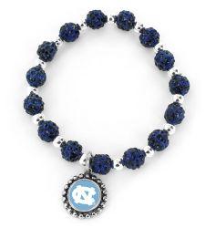NORTH CAROLINA (NAVY BLUE) COLLEGE  PEBBLE BEAD STRETCH BRACELET