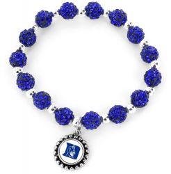 DUKE (BLUE) COLLEGE PEBBLE BEAD STRETCH BRACELET