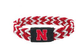 NEBRASKA (RED/WHITE) STRETCH BRACELET (OC)