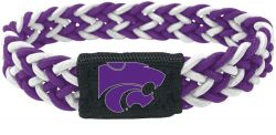 KANSAS STATE (PURPLE/WHITE) STRETCH BRACELET (OC)