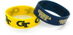 GEORGIA TECH RUBBER BRACELETS (2 PACK)