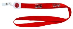 NORTH CAROLINA STATE BADGE REEL WITH (RED) LANYARD