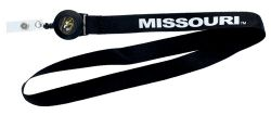 MISSOURI BADGE REEL WITH (BLACK) LANYARD
