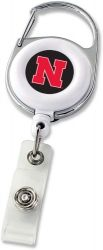 NEBRASKA DELUXE CLIP BADGE REEL
