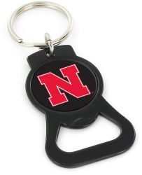 NEBRASKA (BLACK) BOTTLE OPENER KEYCHAIN