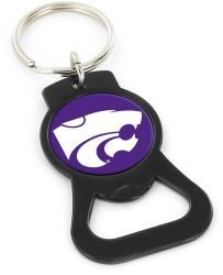 KANSAS STATE (BLACK) BOTTLE OPENER KEYCHAIN