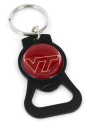VIRGINIA TECH (BLACK) BOTTLE OPENER KEYCHAIN