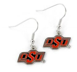 OKLAHOMA STATE COLLEGE DANGLER EARRINGS