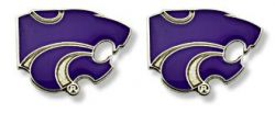 KANSAS STATE TEAM POST EARRINGS