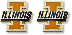 ILLINOIS TEAM POST EARRINGS