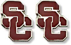 USC TEAM POST EARRINGS