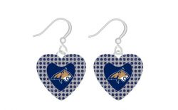 MONTANA STATE GLITTER STONE HEART EARRINGS