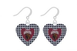 MONTANA GLITTER STONE HEART EARRINGS