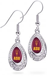 ARIZONA STATE CRYSTAL TEARDROP EARRINGS (OC)