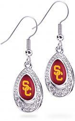 USC CRYSTAL TEARDROP EARRINGS (OC)