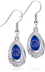 BOISE STATE CRYSTAL TEARDROP EARRINGS (OC)