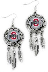 OHIO STATE DREAM CATCHER EARRINGS