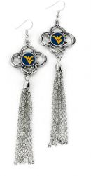 WEST VIRGINIA CHARMED TASSEL EARRINGS