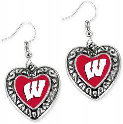 WISCONSIN HEART EARRINGS