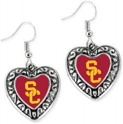 USC HEART EARRINGS