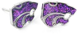 KANSAS STATE GLITTER POST EARRINGS