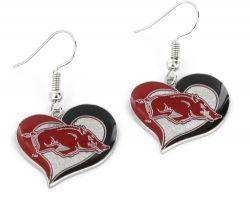ARKANSAS SWIRL HEART EARRINGS