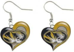 MISSOURI SWIRL HEART EARRINGS