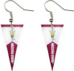 ARIZONA STATE PENNANT EARRINGS