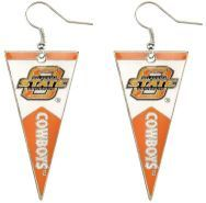 OKLAHOMA STATE PENNANT EARRINGS