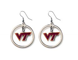 VIRGINIA TECH HOOP EARRINGS