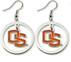 OREGON STATE HOOP EARRINGS