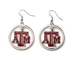 TEXAS A&M HOOP EARRINGS