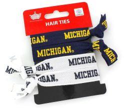 MICHIGAN ELASTIC HAIR TIE (4 PACK)