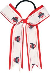 OHIO STATE BOW PONY TAIL HOLDER