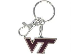VIRGINIA TECH HEAVYWEIGHT KEYCHAIN