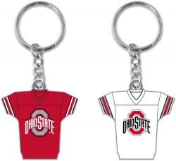 OHIO STATE REVERSIBLE HOME/AWAY JERSEY KEYCHAIN